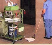6.床のモップ拭き